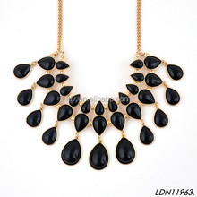 Teardrop Faceted Waterfall Tassels Layer Totally Manual Necklace
