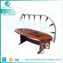 wooden hydro jet shower bed slimming massage bed, angle adjustable