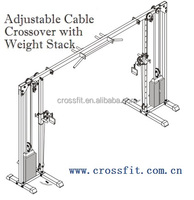 Adjustable Cable Crossover with Weight Stack