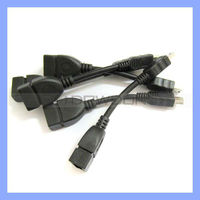 Hot Selling Classic Black Micro OTG Cable for Smart Devices 15CM Length Usb Otg Cable