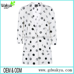 New arrival printed OEM fashion women suits, ladies office uniform,women business jacket