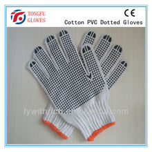 pvc dotted gloves natural white ,industria safety working glove , cheap gloves,750g
