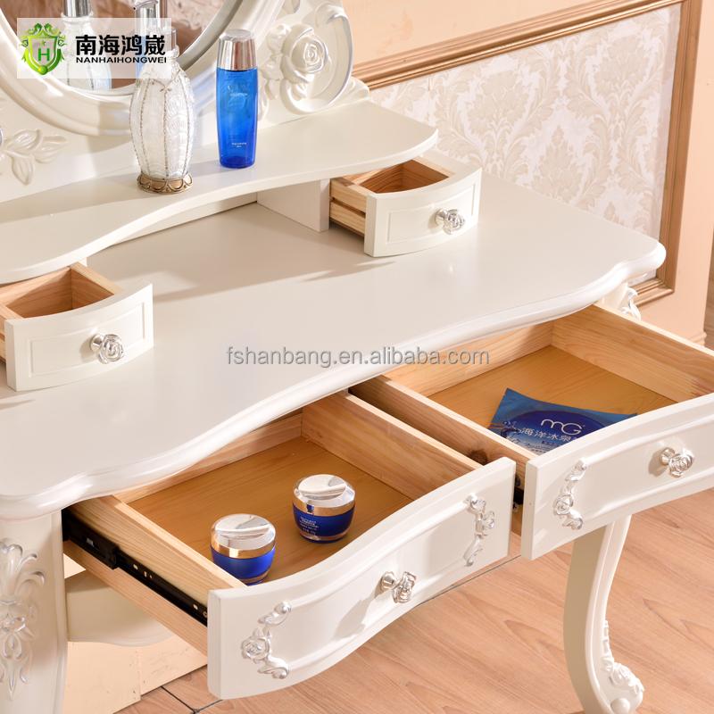 현대적인 아이보리 화이트 프랑스어 디자인 나무 콘솔 테이블 ...
