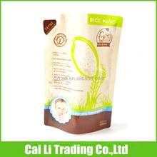 stand up plastic bags for rice packaging