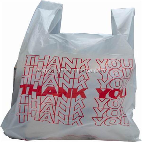 Thank you t shirt plastic shopping bags buy plastic for Plastic t shirt bag