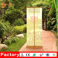 Outdoor aluminum retractable pull up display roll up banner stand