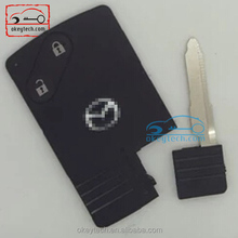 High quality remote key shell mazda 3 5 6 with emergency key 2 button smart card mazda 3 5 6 key case cover