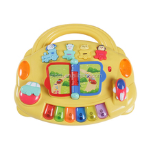 Flip & learn center toy for preschool Press and learn with music,light,different sounds of train and animal and page flipping