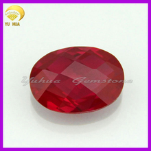 double checker red high quality oval gemstone ruby