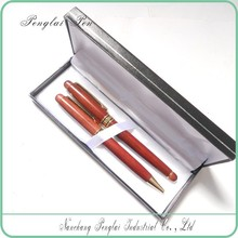 Nice ball pen with gift box, business wooden gift pen set