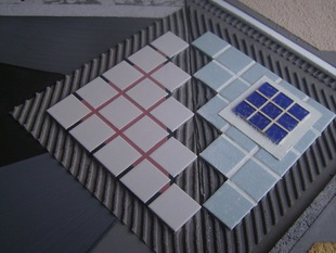 Heat resistant ceramic tile