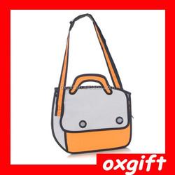 OXGIFT Cartoon Paper Bag/Comic 3D Bag/3D Messager Bag