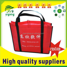 Special hot-sale glossy purple non woven shopping bag