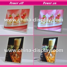 2015 New Pictures Led Photo Frame Light Box Display