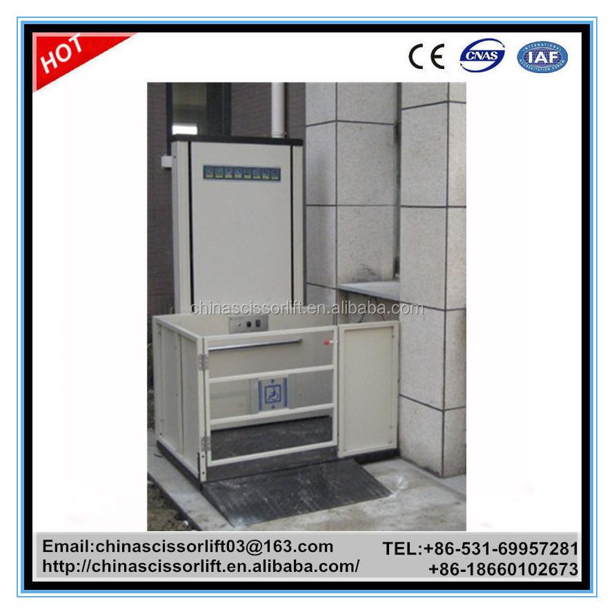 Electric indoor home elevator hydraulic wheelchair lift for Indoor elevator