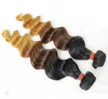 Overseas Indian three tone hair weave wefts colorful