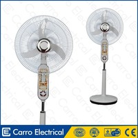 AC DC double-duty safe operation battery solar powered outdoor fans with led