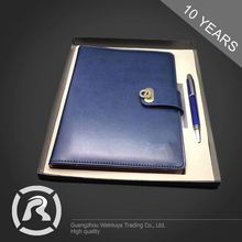 Custom Fitted Specialized Produce Embossed Logo PU Agenda Diary Notebook For Writing