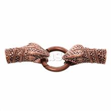 Discount Hook Clasps For Leather Bracelet Snake Antique Copper 7.8cm x 25.0mm2 Sets