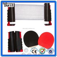 Portable mini adjustable table tennis net for club table personal training, 100% new PE high quality rebounder table tennis net