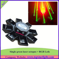 china market dubai hot selling single green+177*10mm rgb leds green laser octopus christmas laser light show