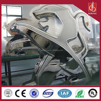 acrylic material vacuum formed and chrome coated led lighting car retailer logo sign/ car dealer shop logo sign on wall