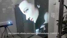Transparente película retroproyección,Auto-adhesivo de las láminas para ventanas,Posterior olográfica Cine Proyección
