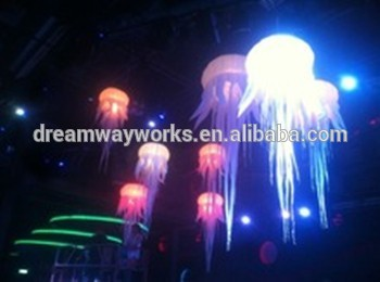 2015 caliente venta llevó inflable de las medusas, que cambia de color de luz medusas para decoración de eventos