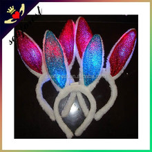 Party Glow in the Dark Bunny Ears LED hair accessories Hair bands for young girls