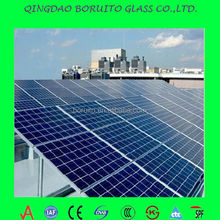 factory price low iron 3.2mm solar glass for panel