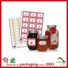 Custom digital printing plastic bottle label Art paper sticker full colors Printed Label