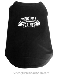Large Dog T shirt Black or Purple Pet Clothes Coat Top
