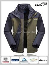 Newest outdoor men jacket fleece lined waterproof 3 in 1 jacket