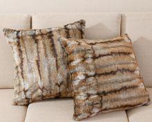 Hot Sale Artificial Fur Pillow /Fur Cover For Sofa