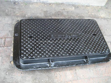 EN124 ductile Cast Iron Water metre Box With lock manhole cover GGG50/7 coated