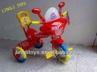 Lingli plastic kids'tricycle, toddler tricycle,three wheels toy bike of China