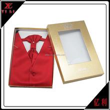 Moda señores chaleco patrón por caja de regalo