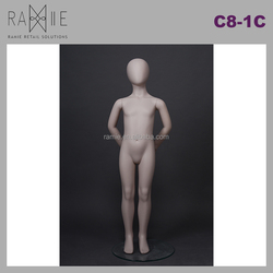 Ramie Hangers Mannequins Racks Paper Products: Light Standing Kids with Arms Behind Full Body Child Mannequin