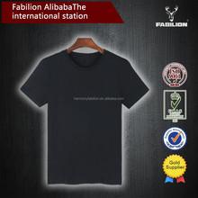 china wholesale high quality black plain for round neck t shirt