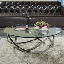 modern design glasaa coffee table home furniture metal coffee table