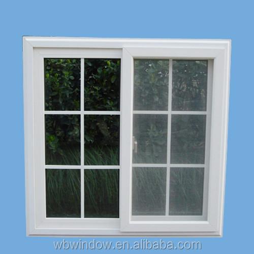 Beautiful pvc upvc glass sliding windows with grid for the for Upvc sliding glass doors