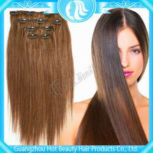 clip in indian remy double weft hair extensions