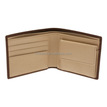 direct factory OEM genuine leather men billfold wallet with coin pocket