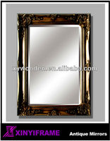 antique gold wood frame mirror wood carving