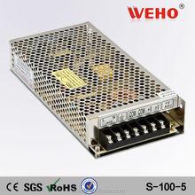 Aluminum 5v 20a 100w single output power supply ac sources