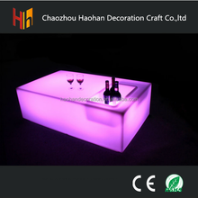 Fashion rechargeable led bar table