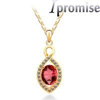 Europe Austrian crystal gold water hyacinth short necklace pendant female joker lavish birthday present fashion jewelry 2163