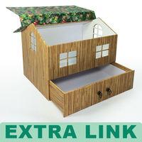 Decorative Custom Design Luxury Packaging Christmas Cardboard house shape gift box