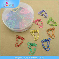 Eco-Friendly Office Supply Factory Produced Smile/Penguin/Foot/Hand Shaped Unique Paper Clips