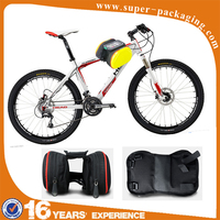 Outdoor EVA PU leather waterproof bicycle travel bag for mountain bike